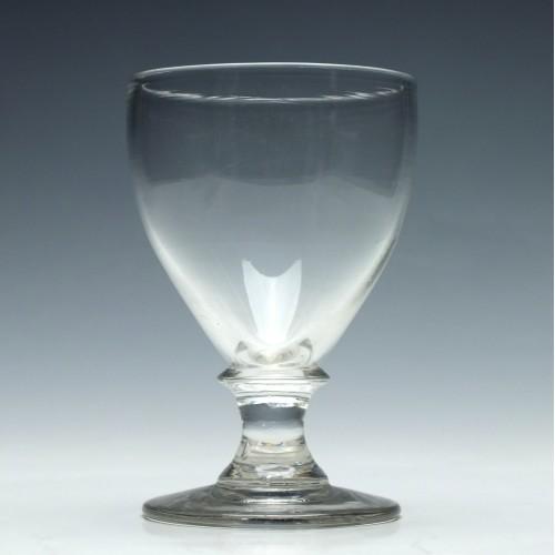 19th Century Ovoid Bowl Glass Rummer c1830
