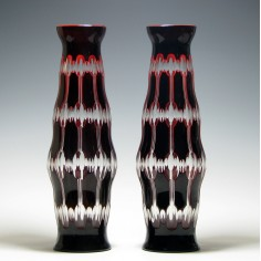 Pair of Large 19th Century Cased Glass Vases