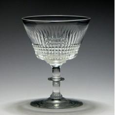 Edinburgh & Leith Crystal Champagne Glass 1927-1939