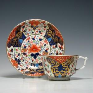 Derby Porcelain Tea Cup and Saucer c1815