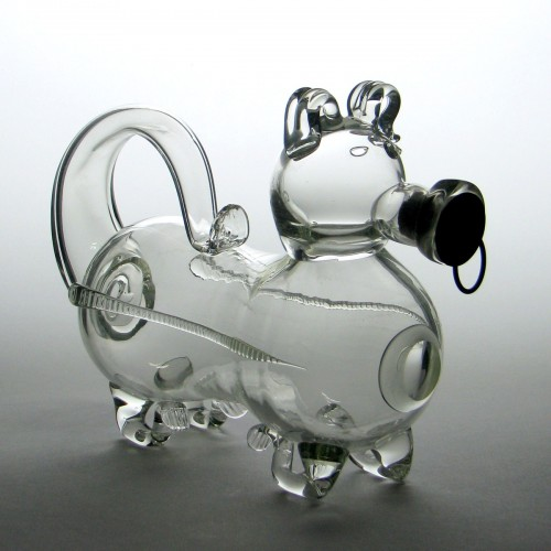 "19th Century Glass ""Gin Pig"" c1890"