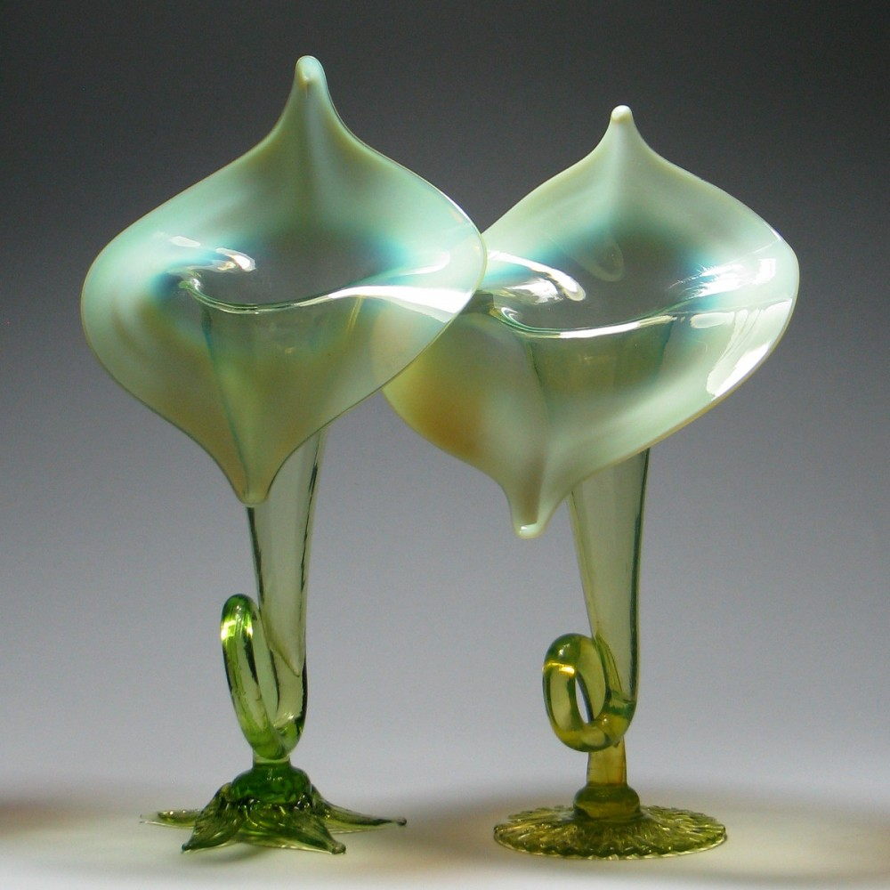 A near pair of jack in the pulpit vases from the 19th century two stevens williams jack in the pulpit vases c1885 reviewsmspy