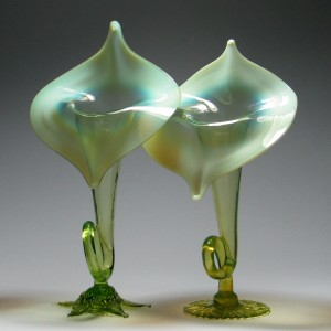 Two Stevens Williams Jack In The Pulpit Vases c1885