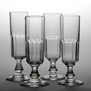 Four French Champagne Glasses c1880