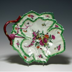 First Period Worcester Leaf Dish 1765-1770