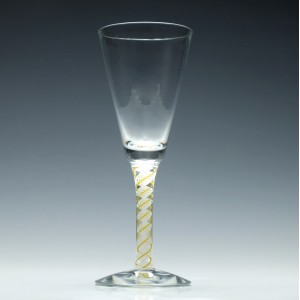 Scottish Yellow Colour Opaque Twist Wine Goblet