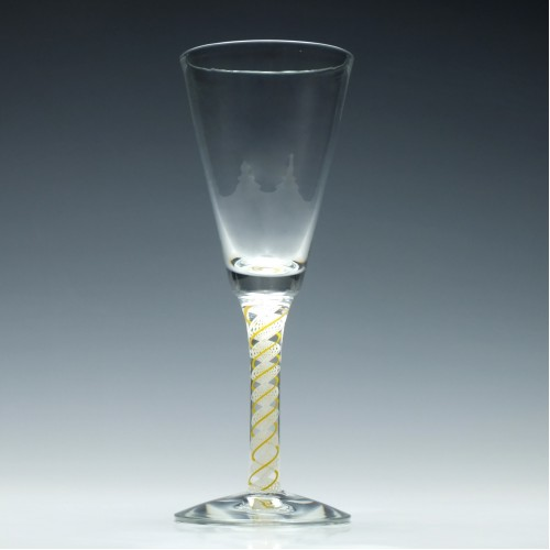 Scottish Yellow Colour Opaque Twist Wine Goblet