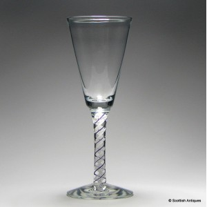 An Amethyst and White ColourTwist Wine Goblet