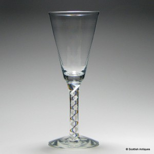 Scottish Rainbow Opaque Twist Wine Goblet