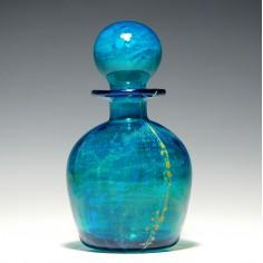Mdina Glass Side Stripe Decanter c1975