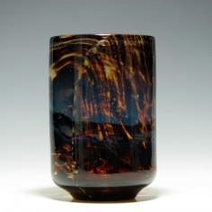 Mdina Mottled and Swirled Glass Vase c1975