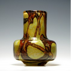 Mdina Earthtones Cylindrical Glass Vase c1975