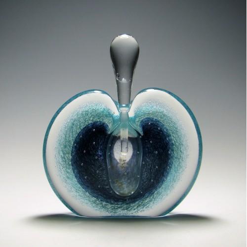 Michael Nourot Sliced Apple Perfume Bottle c1980
