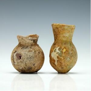 Two 2nd - 4th Century Roman Glass Bottles