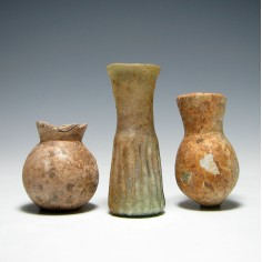 Three Roman Glass Bottles 2nd-4th Century