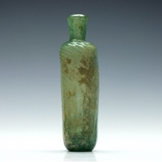Pale Blue-green Islamic Bottle Flask 8th to 12th Century AD
