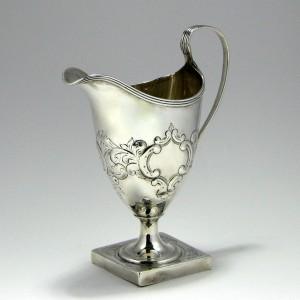 George III Silver Cream Jug By Bateman London 1795