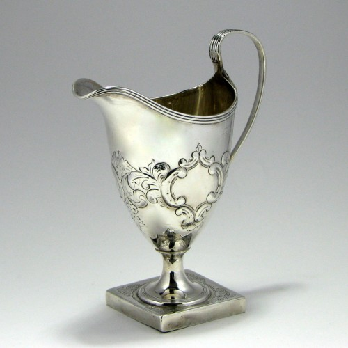 George III Silver Cream Jug By Bateman London 1795