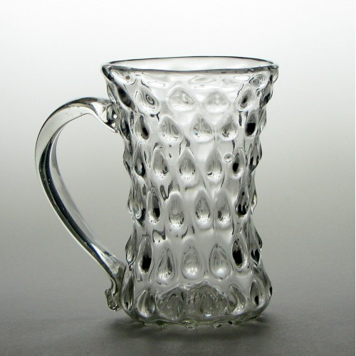 German Moulded Glass Tankard c1790