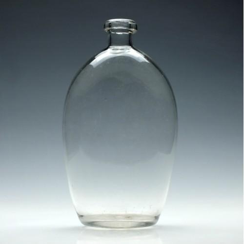 Victorian Glass Pocket Flask c1850