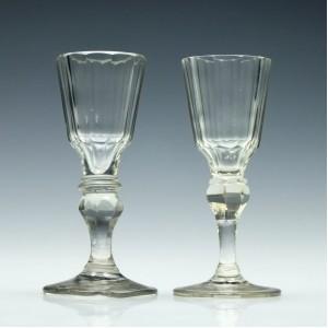 18th Century Facet Cut Gin Glasses c1790