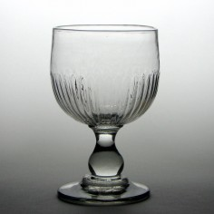 18th Century Rib Moulded Mead Glass c1790