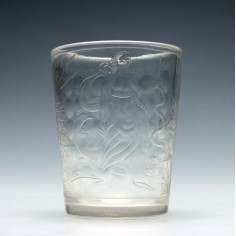 18th Century Glass Tumbler Engraved With Hippocrates c1750