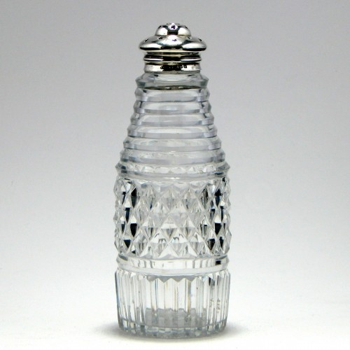 Edward VIII Silver Topped Glass Sugar Caster 1908