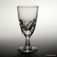 Gardrooned Port Wine Glass c1870