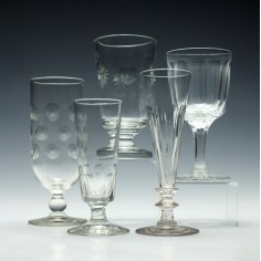 Collection of Five Vintage Drinking Glasses c1820 - c1920