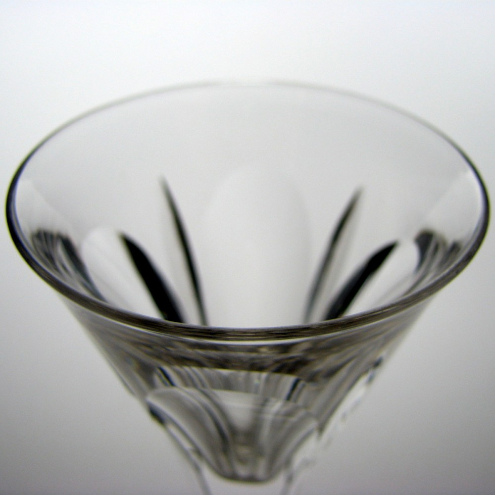 19th century wine glass with a square stem