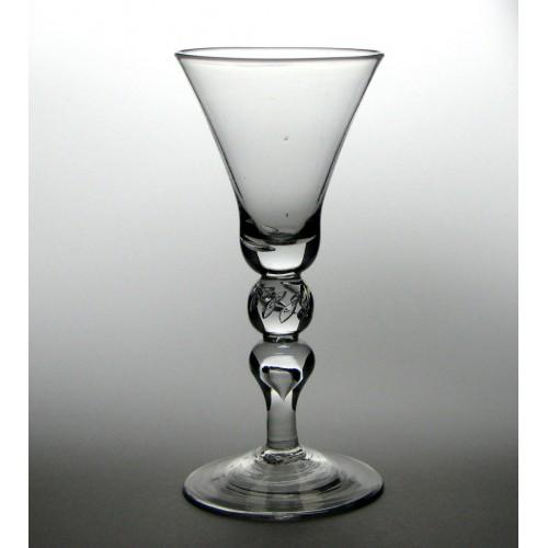 Large Georgian Baluster Wine Goblet c1730