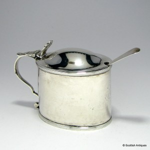 Georgian Silver Mustard Pot & Spoon 1795