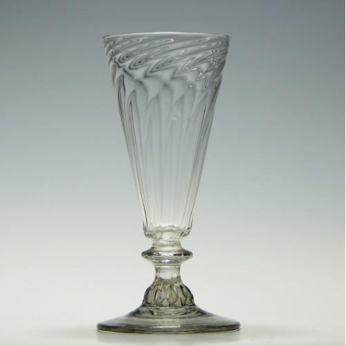 Georgian Somerset Wrythen Ale Glass c1760