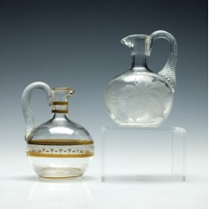 Two 19th Century Glass Condiment Bottles