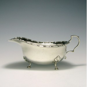 Scottish Silver Sauce Boat 1922