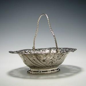 George III Silver Sugar Basket 1767