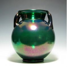 Rare Large Thomas Webb Iridescent Glass Urn c1900