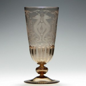 Engraved 19th Century Ale Glass