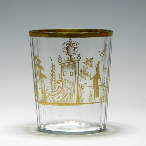 Gilded Continental Glass Tumbler c1820