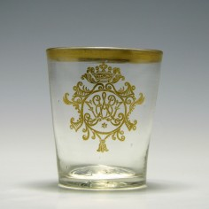 Gilded Glass Tumbler With Monogram c1780