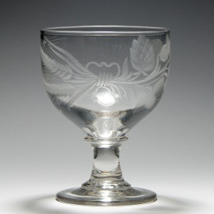 Unusually Engraved 18th Century Rummer c1820