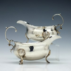 Pair of George III Silver Sauce Boats London 1762