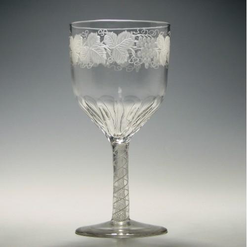 Victorian Opaque Twist Wine Goblet c1880