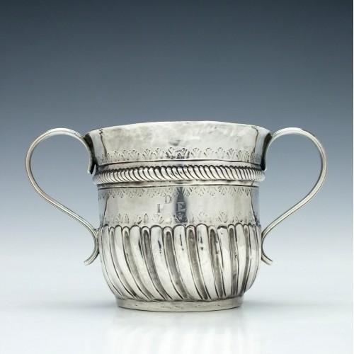 Queen Anne Britannia Silver Porringer or Caudle Cup London 1711