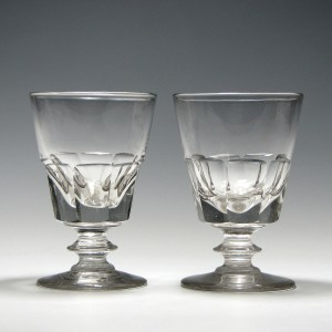 Rare Pair of 19th Century Deceptive Glass Rummers c1830