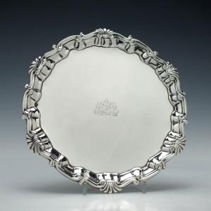 Silver Waiter Thomas Parr London 1746