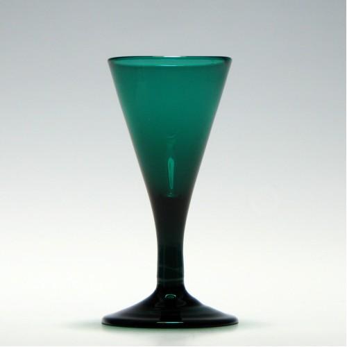 19th Century Plain Stem Dram Glass c1830