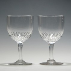 Pair of 19th Century Wine Goblets c1870- Was