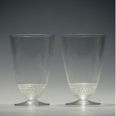 Pair of Signed Rene Lalique Nippon Glasses c1930